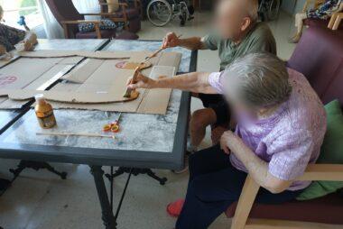 Preparativos Día de los abuelos. Vista Calderona
